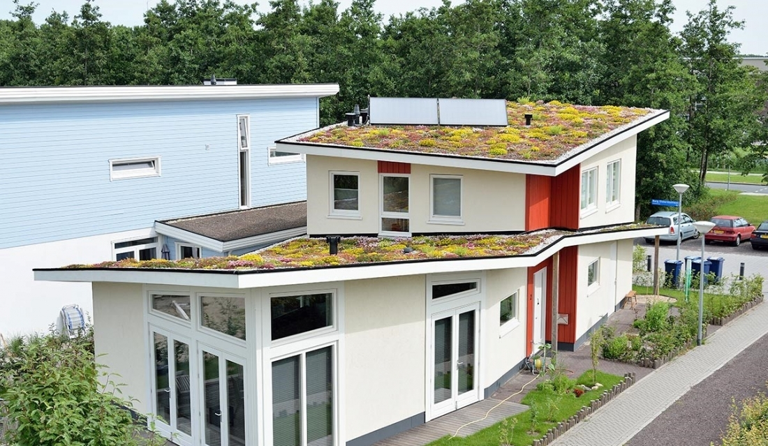 Shallow Pitched Green Roof 5 25 System Structure Sempergreen