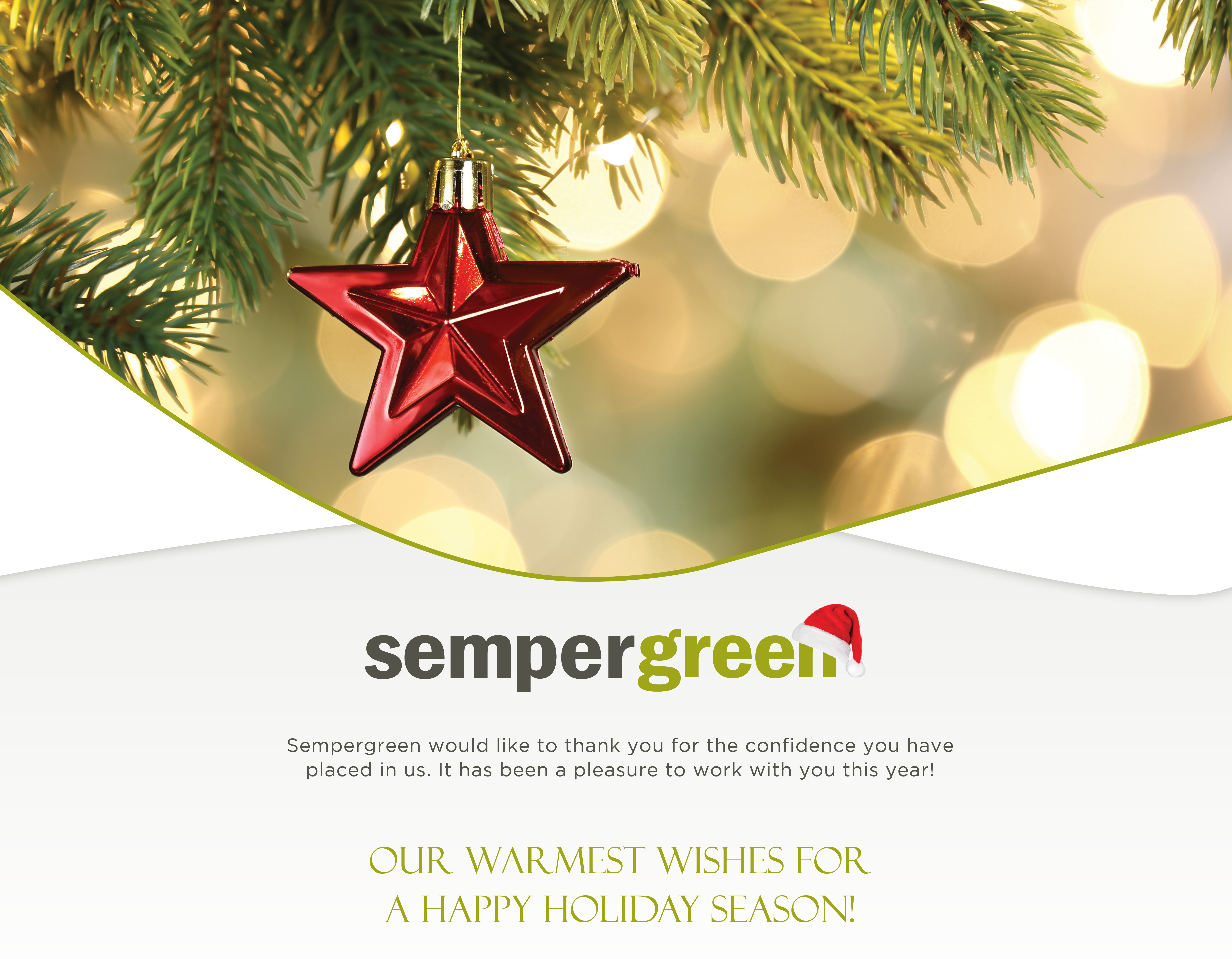 Happy Holidays from Sempergreen!