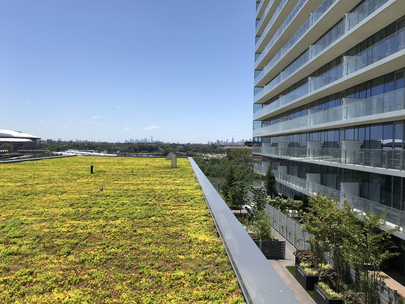 Green roof Sky View Parc project NYC