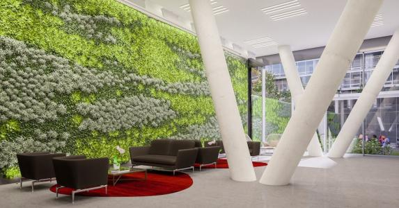 Living wall for architects