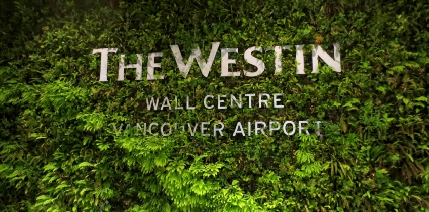 The westin hotel sempergreen for Green wall vancouver
