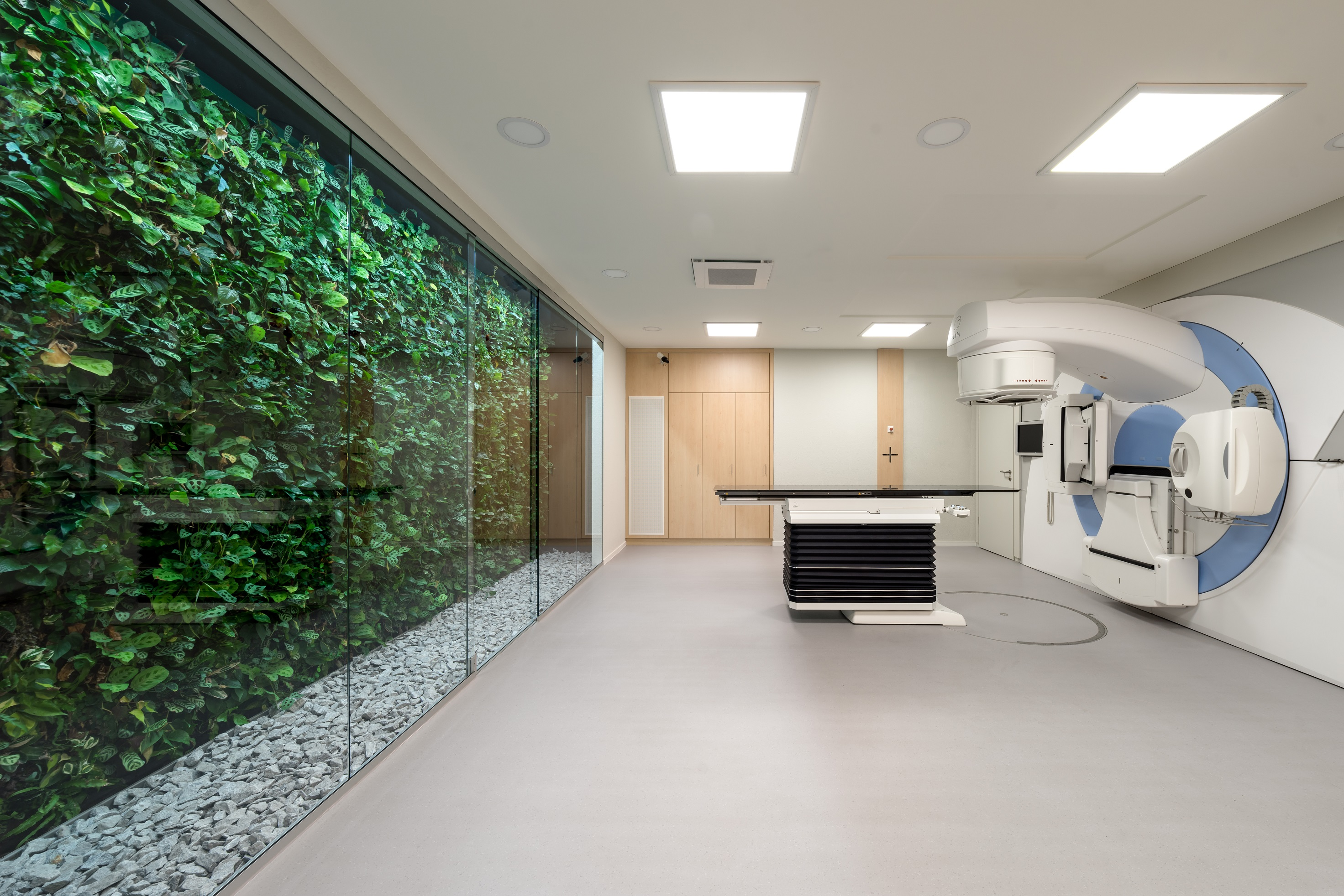 Healing environment in a new radiation therapy center