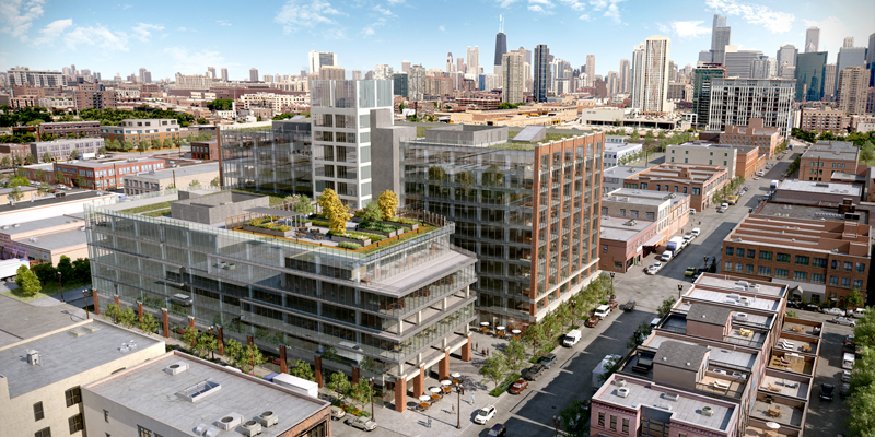 Future home of Google at 1K Fulton in Chicago features Sempergreen ...