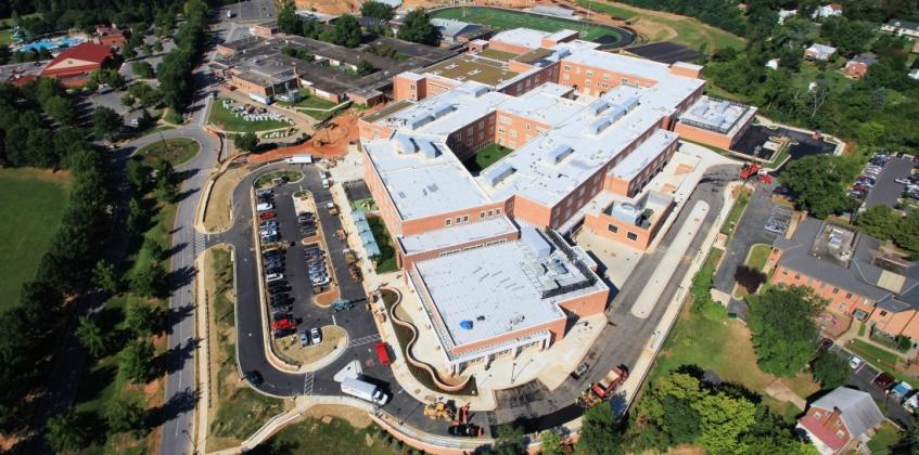 Sedum Roof Gaithersburg High School Sempergreen